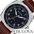 ブローバ 腕時計 [ BULOVA時計 ]( BULOVA 腕時計 ブローバ 時計 ) ミリタリー ( MILITARY ) メンズ/腕時計/ブラック/96B230 [革 ベルト/クォーツ/アナログ/ブラウン/シルバー][送料無料]