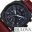 ブローバ 腕時計 [ BULOVA時計 ]( BULOVA 腕時計 ブローバ 時計 ) ミリタリー ( MILITARY ) メンズ/腕時計/ブラック/98B245 [革 ベルト/クロノグラフ/クォーツ/アナログ/ブラウン][送料無料]