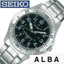 【正規品】【5年延長保証】 セイコーアルバ 腕時計 ( SEIKO ALBA 腕時計 セイコー アルバ 時計 ) メンズ 腕時計 ブラック AQPS003 [ メ..