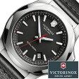ビクトリノックス 腕時計 [ VICTORINOX時計 ]( VICTORINOX SWISSARMY 腕時計 ビクトリノックス スイスアーミー 時計 ) イノックス レザー 腕時計/ブラック/VIC-241737 [正規品/ブランド/レザー ベルト/革/防水/ミリタリー/INOX]
