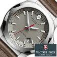 ビクトリノックス 腕時計 [ VICTORINOX時計 ]( VICTORINOX SWISSARMY 腕時計 ビクトリノックス スイスアーミー 時計 ) イノックス レザー 腕時計/グレー/VIC-241738 [正規品/ブランド/レザー ベルト/革/防水/ミリタリー/ブラウン/INOX]
