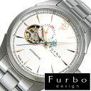 【5年延長保証】 フルボデザイン 腕時計 [ Furbodesign時計 ]( Furbo design 腕時計 フルボ デザイン 時計 ) メンズ 腕時計 ホワイト F5029SISS [ メタル ベルト 正規品 機械式 自動巻 メカニカル おしゃれ オートマチック シルバー ゴールド 送料無料 ]