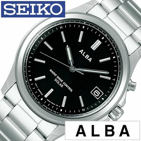 【正規品】【5年延長保証】 セイコー腕時計 ( SEIKO 腕時計 セイコー 時計 ) アルバ ( ALBA ) メンズ レディース腕時計 ブラック AEFY502 [ ブランド おすすめ オススメ 防水 電波ソーラー 防水 ソーラー 電波修正 メタル ベルト シルバー ] [ 20代 30代 40代 50代 60代 ][ 父の日 ][ 誕生日 ][ ハイブリッドスタイルは各種プレゼント・ギフトに対応いたします! ]
