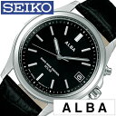 【正規品】【5年延長保証】 セイコー腕時計 ( SEIKO 腕時計 セイコー 時計 ) アルバ ( ALBA ) メンズ レディース腕時計 ブラック AEFY505 [ ブランド おすすめ オススメ 防水 電波ソーラー 防水 ソーラー 電波修正 革 レザー ベルト シルバー ]