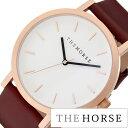 THE HORSE腕時計 [ ザ ホース時計 ] THE HORSE 腕時計 ザ ホース 時計 オリジナル ( THE ORIGINAL BRUSHEDROSEGOLDCASE WHITEDIAL WALNUTBAND )