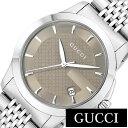 グッチ 腕時計 [ GUCCI 時計 ] Gタイムレス [ G Timeless ] メンズ ブラウン YA126406 [ 人気 ブランド 防水 高級 おすすめ ファッション プレゼント メタル シルバー ]