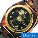 ディズニー ミッキーマウス ウォッチ 腕時計 [ DISNEY MICKEY MOUSE WATCH 時計 ] レディース メンズ ブラック TOR-OLDMCK-04BK [ べっ甲 ミッキー ファッションウォッチ ペアウォッチ プレゼント おしゃれ ブラウン ]
