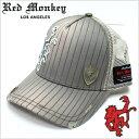 【在庫処分価格】 レッドモンキーキャップ [ REDMONKEY ]( RED MONKEY キャップ レッド モンキー 帽子 ) キャップ 16BARS [ 帽子 キャップ 野球帽 メッシュキャップ アメカジ デザイン ダメージ ブランド 大きいサイズ メンズ ]