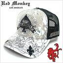 レッドモンキーキャップ[REDMONKEY]( RED MONKEY キャップ レッド モンキー 帽子 )キャップ/ACE-OF-SPADES[ 帽子 キャップ 野球帽 メッシュキャップ アメカジ デザイン ダメージ ブランド 大きいサイズ メンズ ]