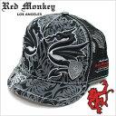 レッドモンキーキャップ[REDMONKEY]( RED MONKEY キャップ レッド モンキー 帽子 )キャップ/HAWAII-WAVE[ 帽子 キャップ 野球帽 アンパイアキャップ 短いツバ アンパイア 短ツバ ブランド 大きいサイズ メンズ レディース ]