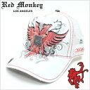 【在庫処分価格】 レッドモンキーキャップ [ REDMONKEY ]( RED MONKEY キャップ レッド モンキー 帽子 ) キャップ PHEONIX-WHITE [ 帽子 キャップ 野球帽 メッシュキャップ アメカジ デザイン ダメージ ブランド 大きいサイズ メンズ ]
