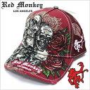レッドモンキーキャップ[REDMONKEY]( RED MONKEY キャップ レッド モンキー 帽子 )キャップ/PILE-OF-SKULL[ 帽子 キャップ 野球帽 メッシュキャップ アメカジ デザイン ダメージ ブランド 大きいサイズ メンズ ]