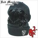 レッドモンキー デザインズ ニット[RED MONKEY DESIGNS]キャップRubber-Cuff-BLACK 黒
