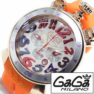 ガガミラノ 腕時計 [ GaGa MILANO 時計 ] ガガ ミラノ クロノ [ CHRONO ] 48MM プラカットオロ [ PLACCATO ORO ] メンズ レディース 6056.9-OR [ 人気 ]