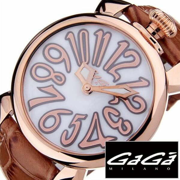 ガガミラノ 腕時計 GaGa MILANO 時計 マヌアーレ [ MANUALE ] 40MM プラカットオロ [ PLACCATO ORO ] メンズ レディース 5021.2 [ 人気 ]