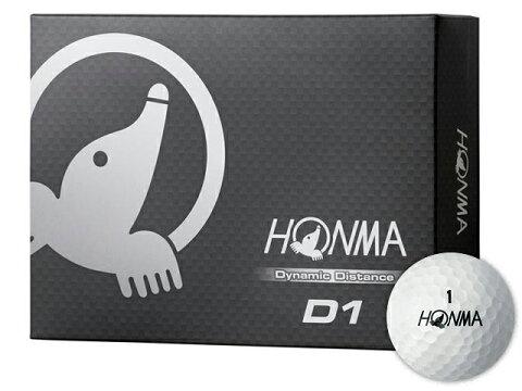 【2017年LDJ主催 世界ドラコン選手権日本大会試合球/送料無料】【HONMA GOLF/本間ゴルフ】D1 ゴルフボール ホワイト 1ダース 12球入り【HTCLDA】