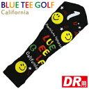 【BLUE TEE GOLF/ブルーティーゴルフ】ニット ヘッドカバー ブラック スマイル ドライバー用 (460cc対応 ゴルフ用品 ゴルフヘッドカバー)【10P07Nov15】【楽ギフ_包装】