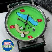 【あす楽対応】ゴルフウォッチ ゴルフコース 腕時計 ( おもしろ 面白 ゴルフ雑貨 贈り物 コンペ賞品 景品 時計 おもしろ グッズ ギフト)[父の日ギフト 父の日 プレゼント ゴルフ]【楽ギフ_包装】【HTCゴルフ ホクシン交易】の画像