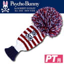 【即納】【Psycho Bunny/サイコバニー】 2016年モデル PB ニット ヘッドカバー PBMG6SH4 パターカバー (パター用 ゴルフ用品 ゴルフヘ..