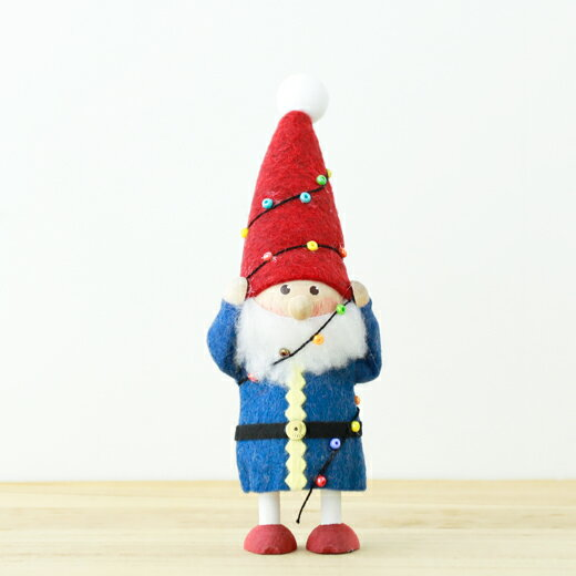 【2018年新作】NORDIKA DESIGN ノルディカニッセ 人形 電飾にからまるサンタ
