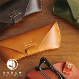 DURAM眼镜盒[KB043]]]容易礼品包装[DURAM メガネケース 革製 [KB043]【楽ギフ包装】]