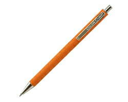 ITOYA Itoya COLOR CHART winding leather round ball-point pen sunset orange