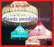 SALE 30%OFF HUGオリジナル ビーズペンダントランプ BDP-002 インテリア・寝具・収納 ライト・照明 シーリングライト(天井照明) 洋風ペンダントライト 6畳用