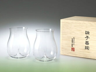 Lightly set up 10%OFF; unwarmed sake glass size brewing sake from the finest rice 2P pine virtue glass Japanese dishes bottle and cup