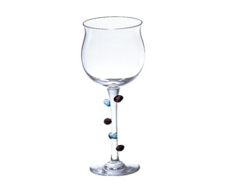 Minuet wine glasses, blue