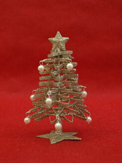 3319 HUG select Christmas tree zigzag mini-tree silver Christmas trees