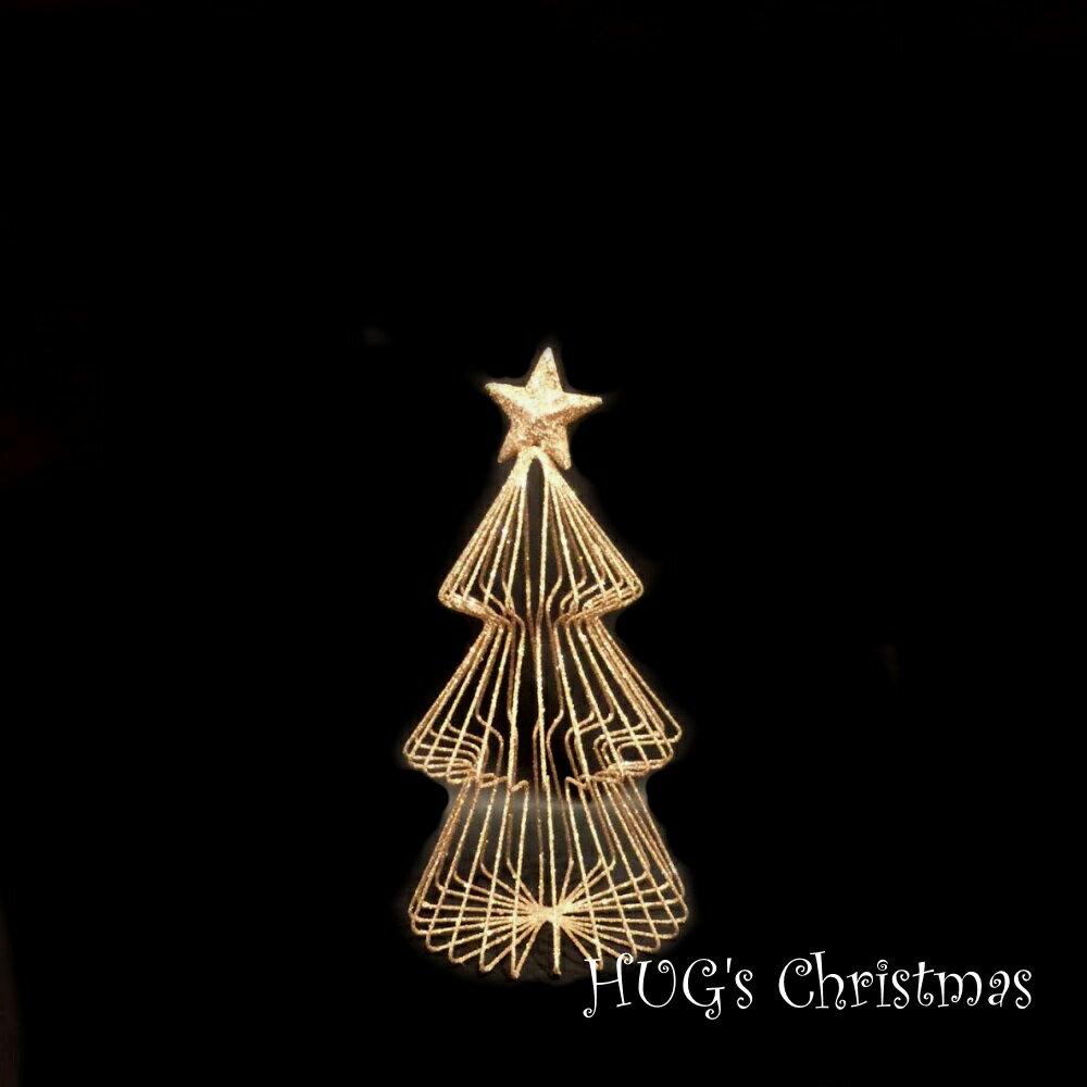 HUGセレクトクリスマスオーナメントラメワイヤーツリーゴールド2712Sおもちゃ・ホビー・ゲームパー