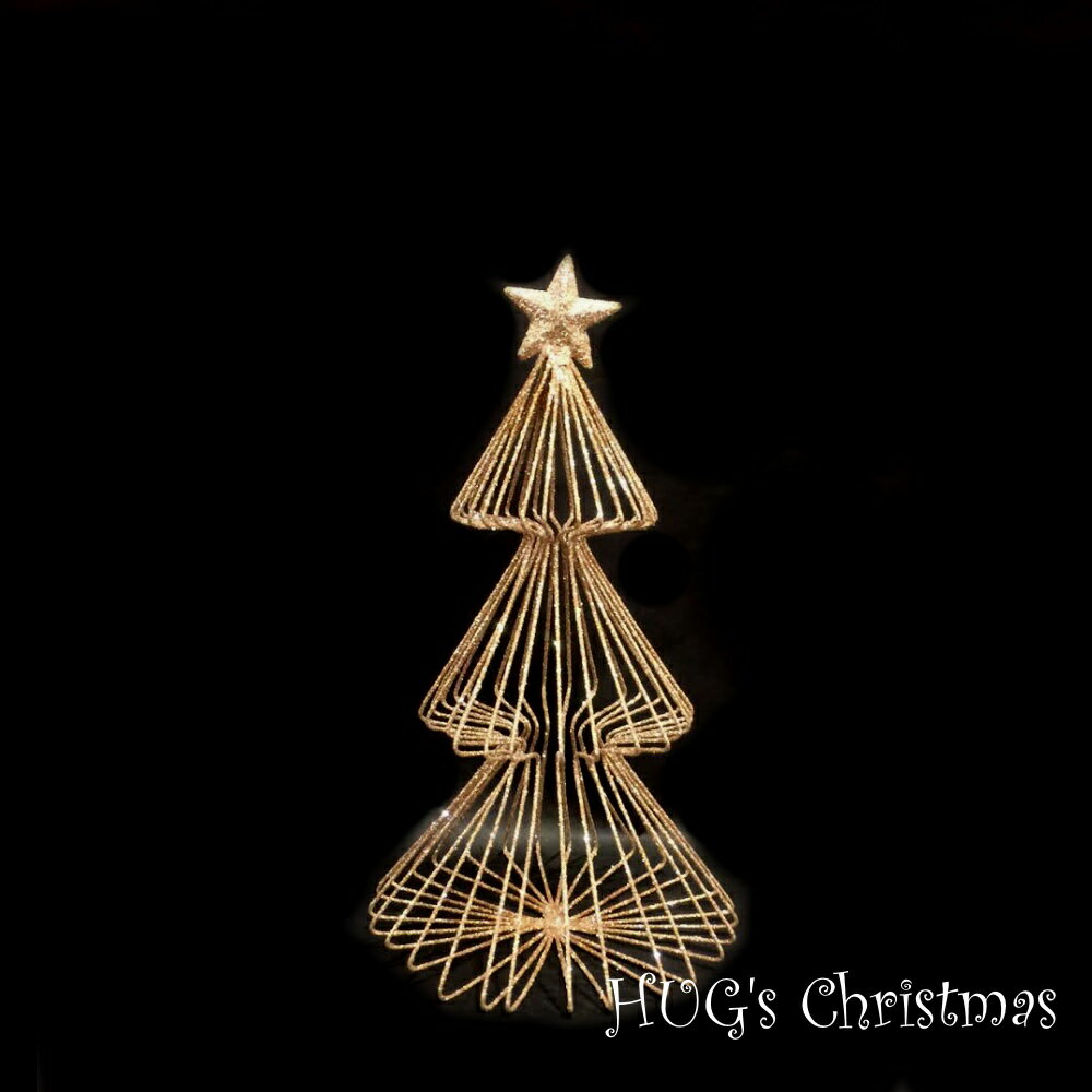 HUGセレクトクリスマスオーナメントラメワイヤーツリーゴールド2713おもちゃ・ホビー・ゲームパーテ