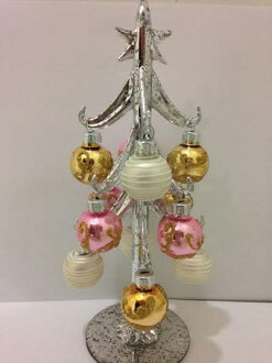 3668 HUG select Christmas tree clear silver glass tree pink Christmas trees