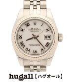 ロレックス オイスターパーペチュアル デイトジャスト 179174NR 自動巻き 腕時計 ROLEX レディース 【中古】
