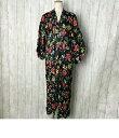 花柄 ガウン ロングコート SIZE 56 (XL以上) フラワー バラ ブラック メンズ 【中古】