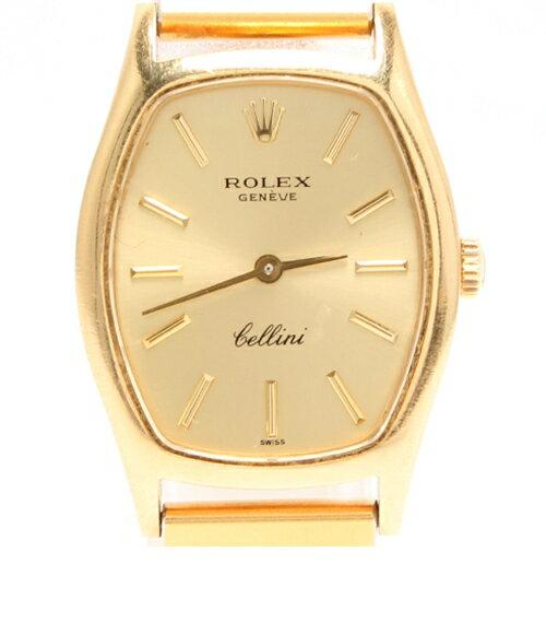 ロレックス チェリーニ スクエア K18 手巻き ゴールド文字盤 腕時計 ROLEX レディース 【】 sale【1203】