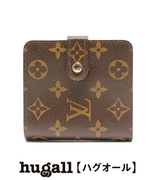 ルイヴィトン コンパクトジップ モノグラム M61667 二つ折り財布 Louis Vuitton レディース 【中古】