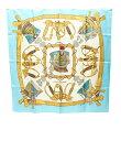 エルメス カレ90 シルクスカーフ GRAND UNIFORME 壮大な制服 HERMES レディース 【中古】