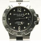 ブルガリ ディアゴノスクーバ SD38S デイト 自動巻き 腕時計 メンズ 【中古】[10P29Aug16]