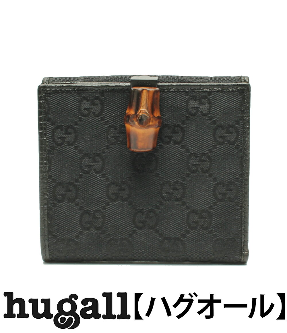 グッチ バンブー GGキャンバス 二つ折り財布 1122523 GUCCI レディース 【中古】