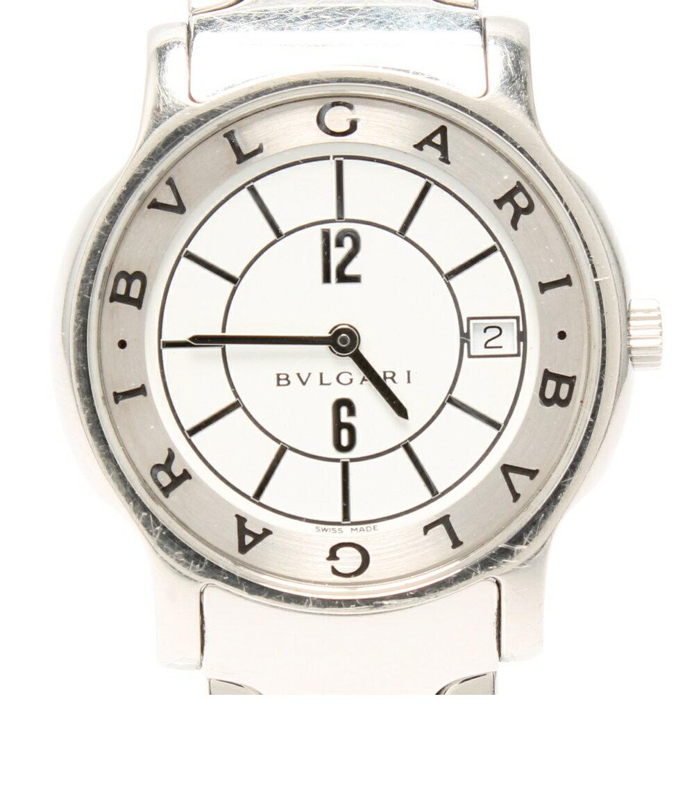 ブルガリ ソロテンポ ST35S SS クォーツ ホワイト文字盤 腕時計 Bvlgari レディース 【】 10%OFF 在庫一掃セール sale【0113】