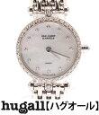 ヴァンクリーフアンドアーペル K18 ラウンド ダイヤベゼル クォーツ ホワイトシェル文字盤 腕時計 VAN CLEEF&ARPELS レディース 【中古】