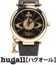 ヴィヴィアンウエストウッド VV006BKGD クォーツ ブラック文字盤 腕時計 Vivienne Westwood レディース 【中古】