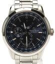 オリエント オリエントスター ワールドタイム WZ0021JC SS 自動巻き ブルー文字盤 腕時計 ORIENT メンズ 【中古】
