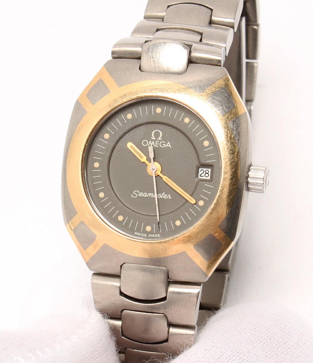 オメガ 訳あり チタン シーマスター ポラリス クオーツ 腕時計 グレー OMEGA レディース【】 【送料無料】【ショップオブザイヤー2016受賞】