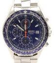 セイコー 7T92-0CF0 クオーツ クロノグラフ 腕時計 ブルー SEIKO メンズ【中古】