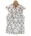 【中古】美品 トリーバーチ ノースリーブシャツ レディース SIZE 4 (S) TORY BURCH