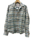 【中古】美品 フランクリンアンドマーシャル チェックオープンカラーシャツ レディース SIZE XS (XS以下) FRANKLIN&MARSHALL