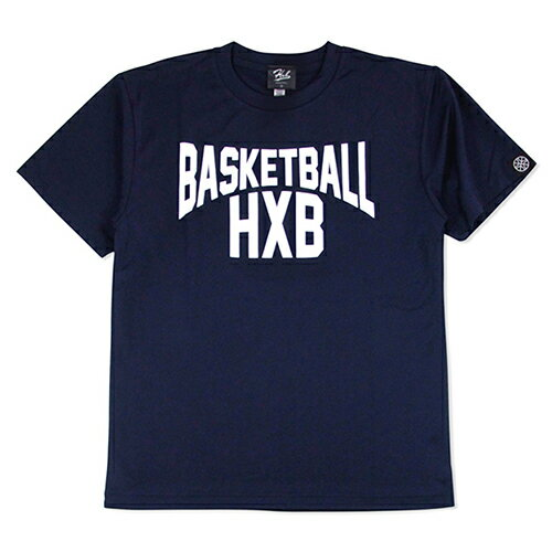 HXB ドライTEE【LENON】NAVY バスケットボール バスケ シャツ Tシャツ バスケットボールウェア