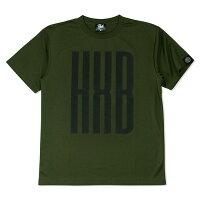 HXB ドライTEE【SLENDER】OLIVE×BLACK バスケットボール バスケ Tシャツ バスケットボールウェアの画像